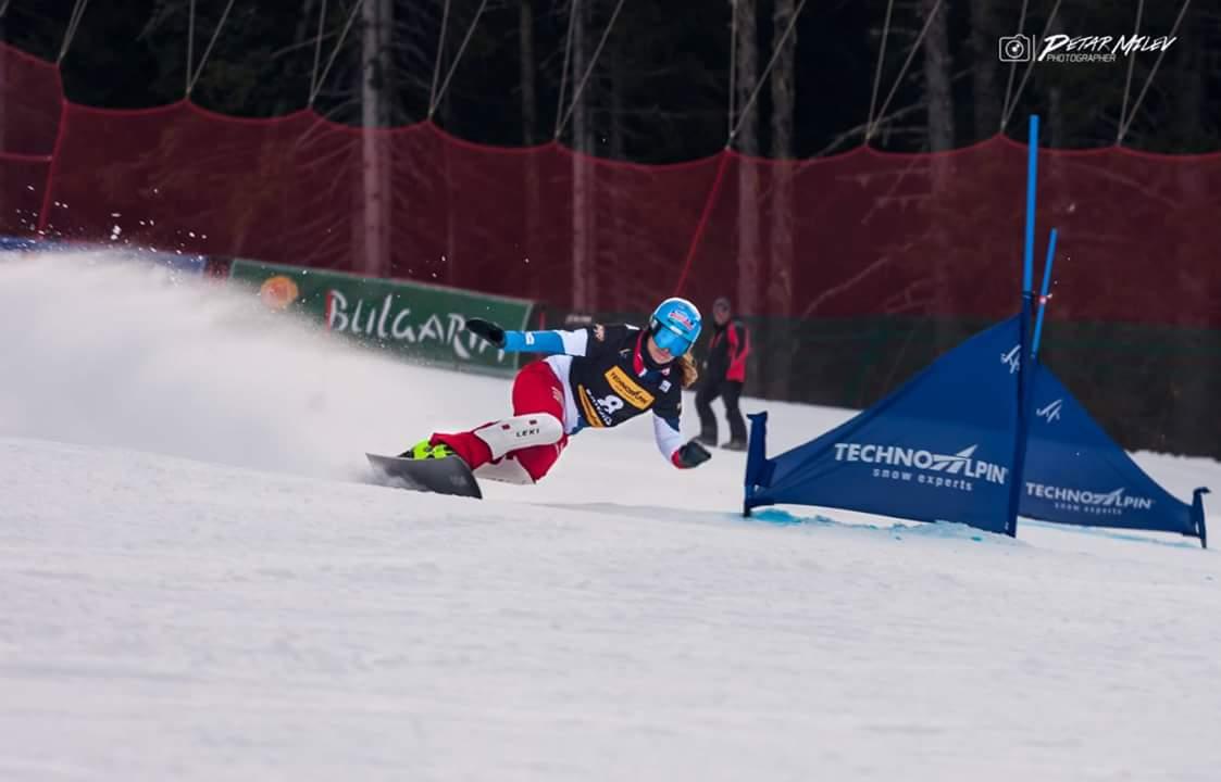 Patrizia Kummer fährt auf den zweiten Rang im zweiten Weltcup Parallel Riesenslalom in Bansko im Februar 2017.