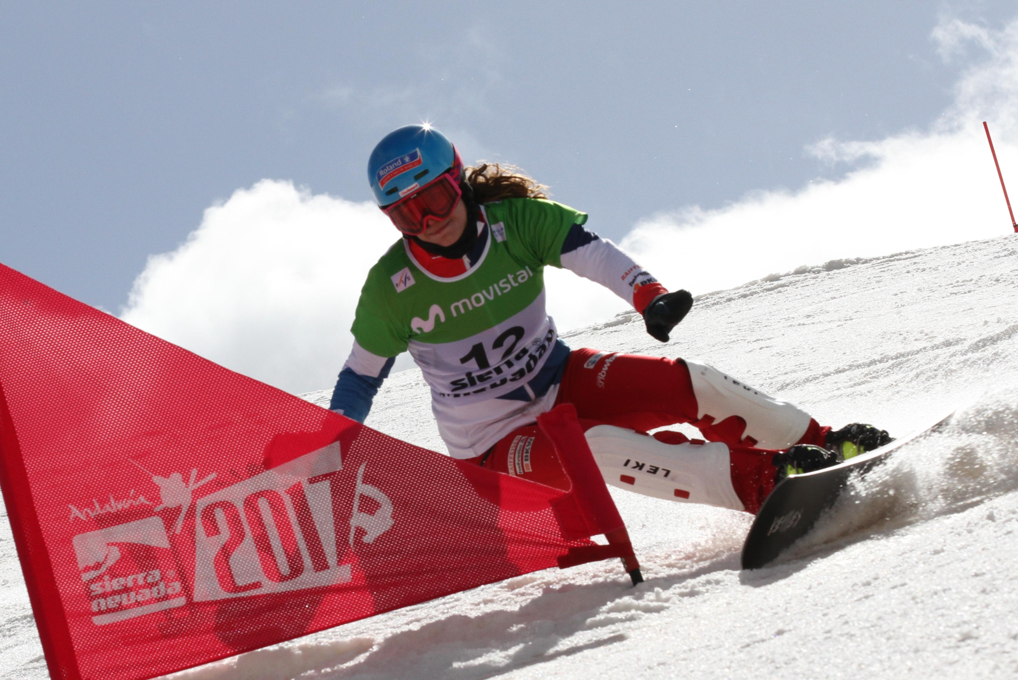 Patrizia Kummer kämpft im WM Parallel Slalom in Sierra Nevada um die Medaillen.