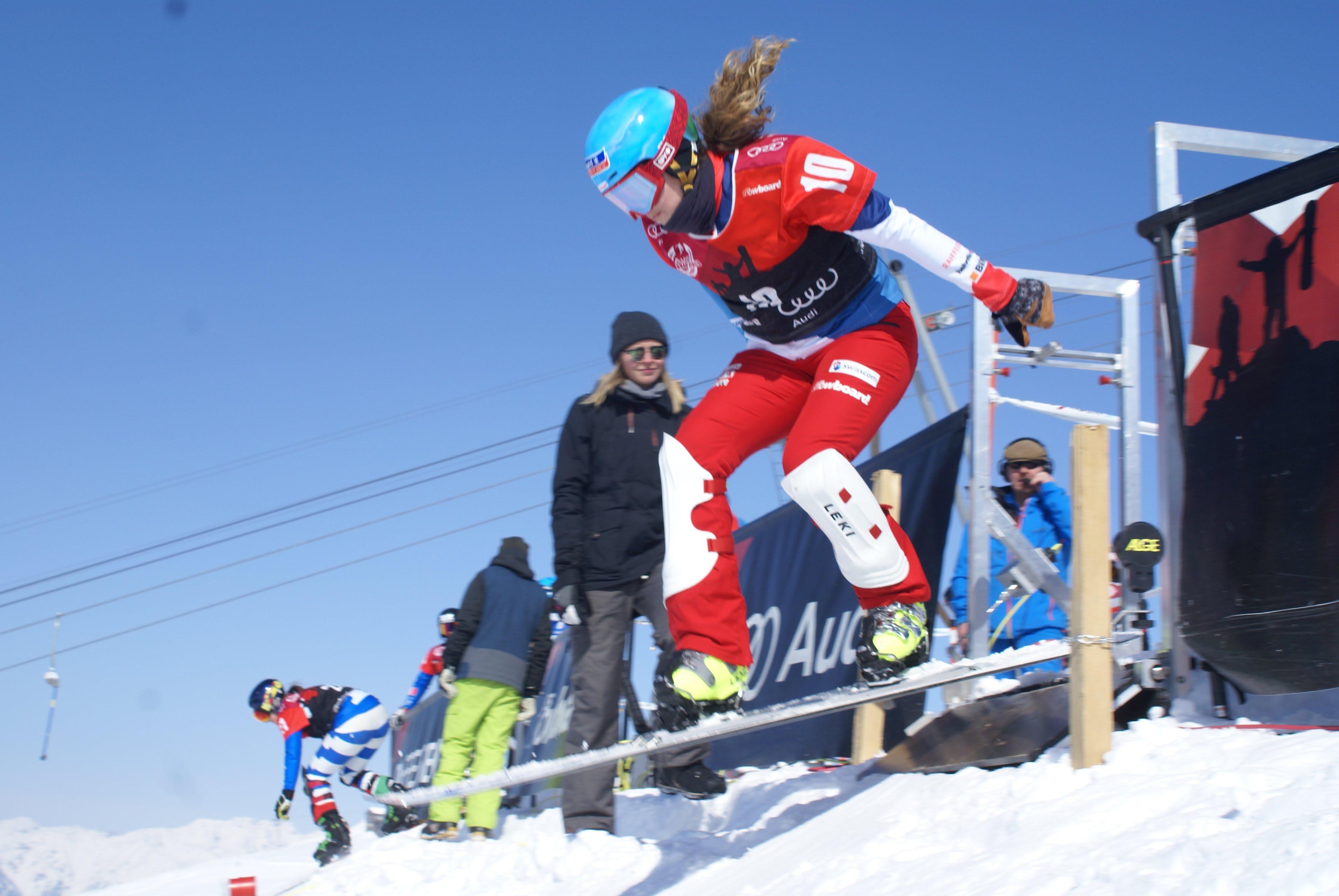 Patrizia Kummer beim Start an der Schweizermeisterschaft in Davos im März 2018.