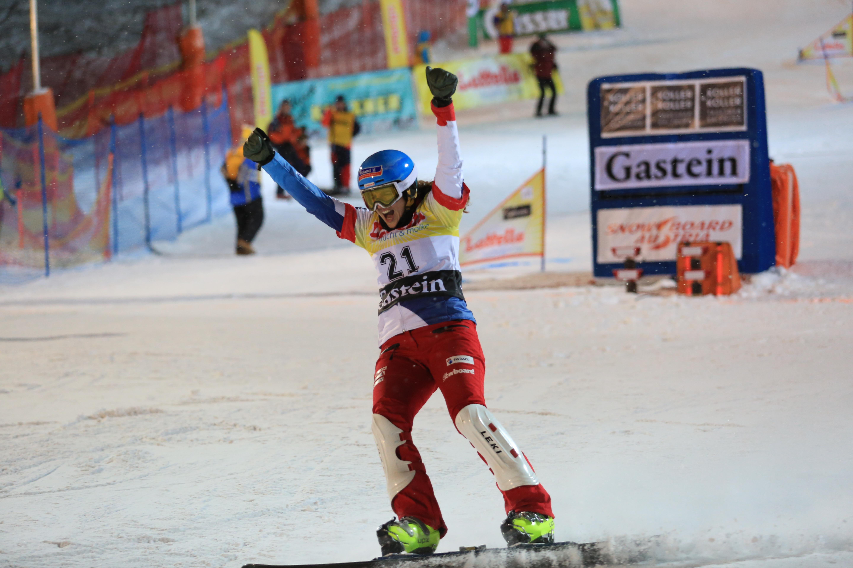 Patrizia Kummer jubelt am Weltcuprennen von Bad Gastein im Januar 2019 über den Einzug ins Viertelfinale. Dies war ein wichtiger Schritt für sie, da sie es über ein Jahr nicht mehr geschafft hatte, das Achtelfinale zu überstehen. Am Ende schaute der vierte Rang heraus.